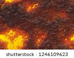 ground hot lava. burning coals  ... | Shutterstock . vector #1246109623