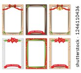 set of christmas photo frame... | Shutterstock .eps vector #1246110436