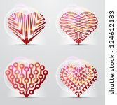 original heart symbols  icons ... | Shutterstock .eps vector #124612183