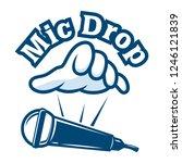 mic drop logo | Shutterstock .eps vector #1246121839