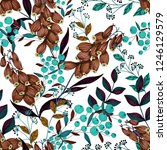 seamless pattern with hand... | Shutterstock . vector #1246129579