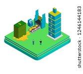 isometric business patner... | Shutterstock .eps vector #1246144183