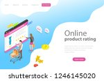 isometric flat landing page... | Shutterstock . vector #1246145020