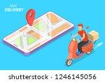 isometric flat concept of... | Shutterstock . vector #1246145056
