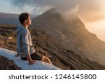 young handsome guy enjoying of... | Shutterstock . vector #1246145800