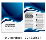 vector business brochure  flyer ... | Shutterstock .eps vector #124615684
