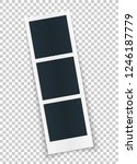 rotated photo strip template in ... | Shutterstock .eps vector #1246187779