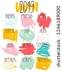 2019 calendar in russian  ... | Shutterstock . vector #1246189000