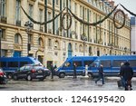 paris  france  december 1  2018.... | Shutterstock . vector #1246195420