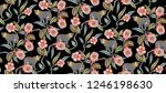 seamless tropical flowers with... | Shutterstock . vector #1246198630