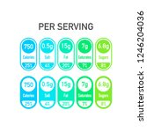 nutrition facts vector package...   Shutterstock .eps vector #1246204036