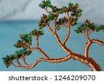closeup of a handmade bead wire ... | Shutterstock . vector #1246209070