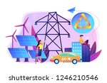 business people use clean... | Shutterstock .eps vector #1246210546