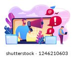 target individual with laptop...   Shutterstock .eps vector #1246210603