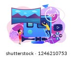 business people on virtual... | Shutterstock .eps vector #1246210753