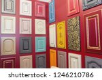 samples of furniture fronts at... | Shutterstock . vector #1246210786