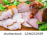 assortment of meat products...   Shutterstock . vector #1246212439