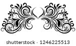 abstract curly element for... | Shutterstock .eps vector #1246225513
