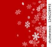 winter snowflakes border simple ... | Shutterstock .eps vector #1246228993