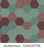 japanese pattern background... | Shutterstock .eps vector #1246237756