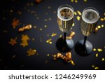 two glasses full of sparkling... | Shutterstock . vector #1246249969