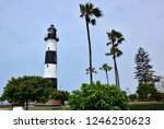 lighthouse by the sea in lima ... | Shutterstock . vector #1246250623