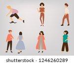 human character vector | Shutterstock .eps vector #1246260289