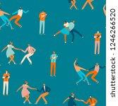 dancing cartoon characters of...   Shutterstock .eps vector #1246266520