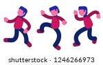 happy dancing guy vector...   Shutterstock .eps vector #1246266973