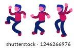 happy dancing guy vector...   Shutterstock .eps vector #1246266976