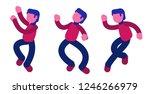happy dancing guy vector...   Shutterstock .eps vector #1246266979