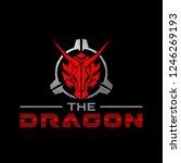 the dragon head in scope...   Shutterstock .eps vector #1246269193