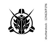 dragon head in scope military...   Shutterstock .eps vector #1246269196