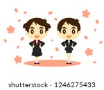 graduation ceremony   entrance... | Shutterstock .eps vector #1246275433