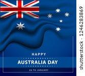 australia day. banner for... | Shutterstock .eps vector #1246283869