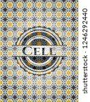cell arabesque style badge.... | Shutterstock .eps vector #1246292440