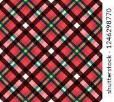 tartan fabric texture. seamless ... | Shutterstock . vector #1246298770