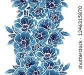 flower print in bright colors.... | Shutterstock . vector #1246315870