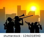Silhouette Musicians Group Wit...