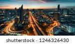 city lanscape bangkok business... | Shutterstock . vector #1246326430