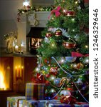 happy merry christmas | Shutterstock . vector #1246329646