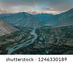 nubra is a tri armed valley...   Shutterstock . vector #1246330189