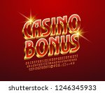 vector luxury logo casino bonus.... | Shutterstock .eps vector #1246345933