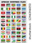african countries flags... | Shutterstock .eps vector #1246346053