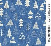 christmas seamless pattern for... | Shutterstock .eps vector #1246351993