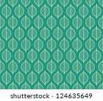 Seamless Stylized Leaf Pattern...