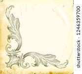 retro baroque decorations... | Shutterstock .eps vector #1246359700