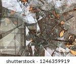 broken window in the street on... | Shutterstock . vector #1246359919