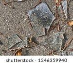 pieces of broken glass on... | Shutterstock . vector #1246359940