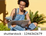photo of black lady with crisp... | Shutterstock . vector #1246362679